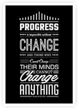 LAB NO 4 Progress is Impossible Without Change George Bernard Shaw Inspirational, Corporate Quotes Poster Size A3 (16.5