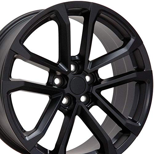 OE Wheels LLC 20 Inch Fits Chevy Camaro 10-2020 ZL1 Style CV19 20x9.5/20x8.5 Rims Satin Black SET
