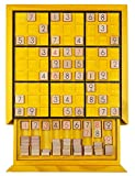 KAILIMENG Wooden Sudoku Board Game with Drawer - 81 Grids Number Place Wood Puzzle for Kids and Adults