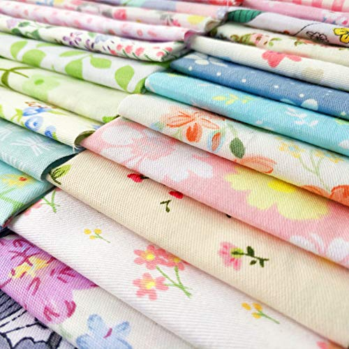 "240pcs Fabric Squares Sheets Lovely Floral Pattern Pack Assorted Sewing Quilting Fabric for Craft 4"" x 4""(10 cm x 10 cm)100% Cotton"