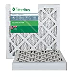 FilterBuy 12x12x1 MERV 13 Pleated AC Furnace Air Filter, (Pack of 4 Filters), 12x12x1 – Platinum
