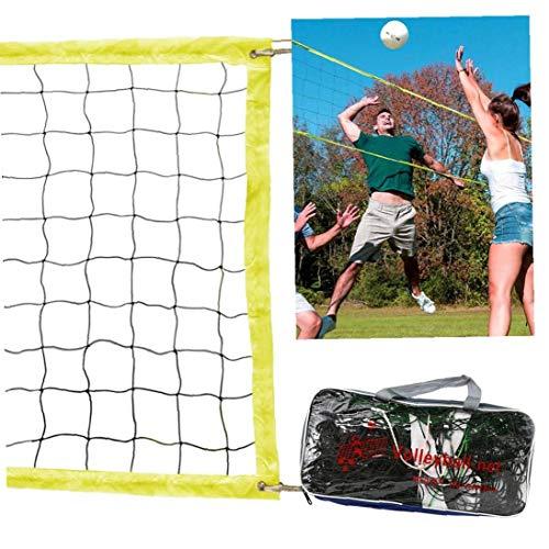 Deanyi Bewegliche Beruf Volleyball-Netz Ersatz Volleyball-Netz für Outdoor oder Indoor Sport Hinterhof Schulhof Pool Strand