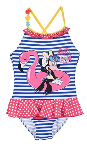 Maillot de Bain 1 pièce Enfant Fille Minnie Disney Rayé Blanc/Marine de 3 à 8ans (8 Ans)