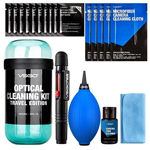 VSGO DKL-18 - Kit de viaje para limpieza lentes, color azul