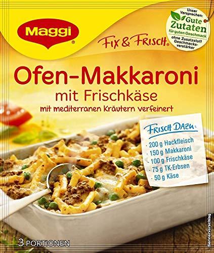 Maggi Fix für Ofen -Makkaroni mit Frischkäse, Beutel, ergibt 3 Portionen, 39 g