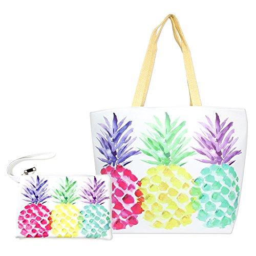 by you große Strandtasche / Reisetasche für Damen, mit Reißverschluss, Schultertasche für den Sommer