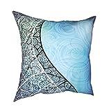 Throw Pillowcase Fundas de Almohada 45x45CM Azul y vectores de Fondo Curvo de Graphicriver decoración para la decoración del hogar Oficina Sofá Holiday Bar Café Boda Coche