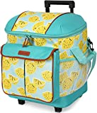 Arctic Zone 44 Can Hot/Cold Insulated Rolling Tote, Lemonade - Blue