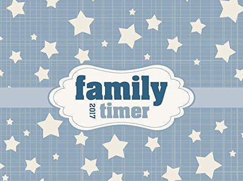 Familytimer Home & To Go Stars 2017 - Familientermine / Familienplaner (15 x 21) - 1 Woche 2 Seiten - mit Ferienterminen - 6 Spalten