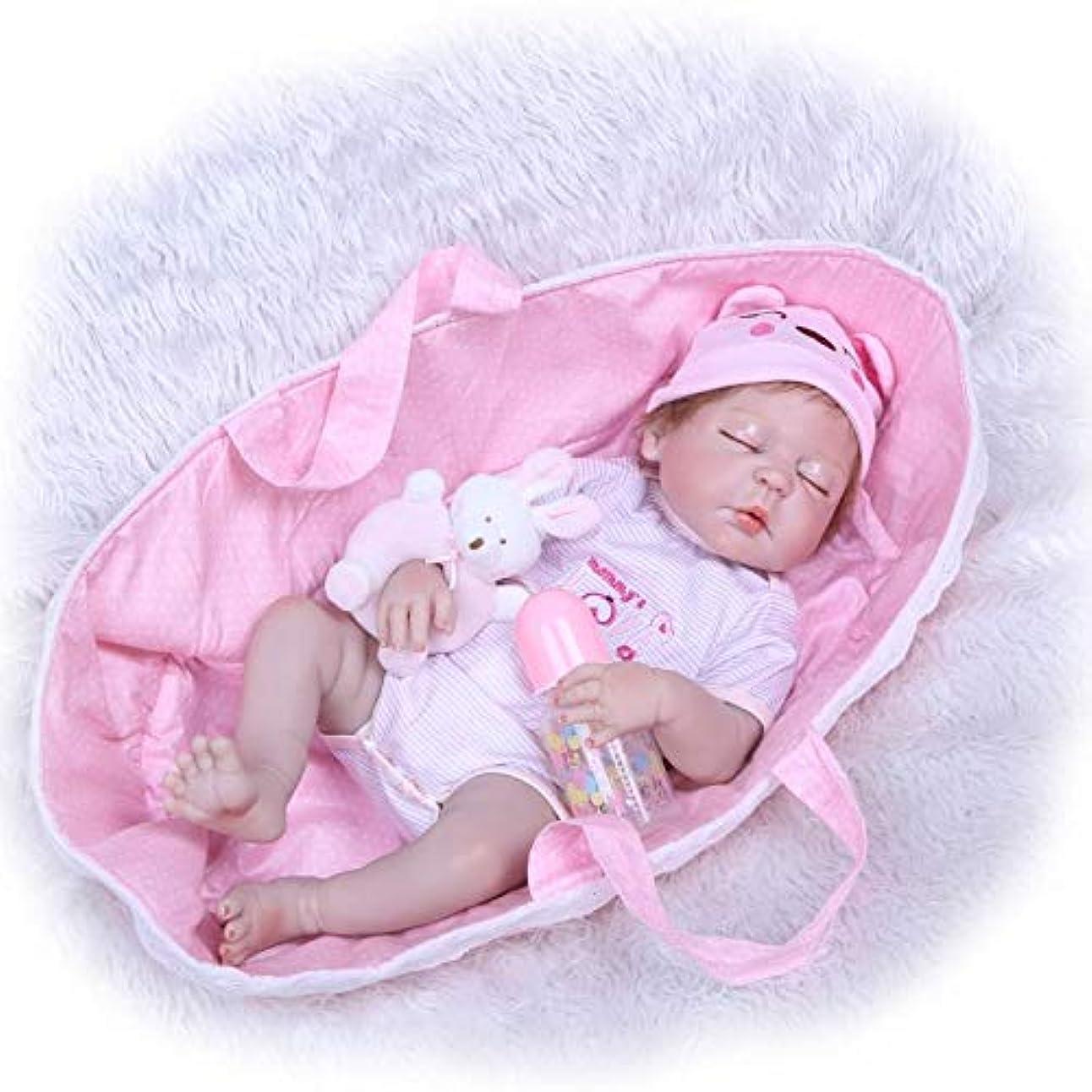 効果的に包囲検証NPK コレクション 22インチ 55cm シリコン ベビードール フルボディ 女の子 本物そっくり 新生児 プリンセス ビーブ 人形 キッズ 成長パートナー 収集価値のあるおもちゃ