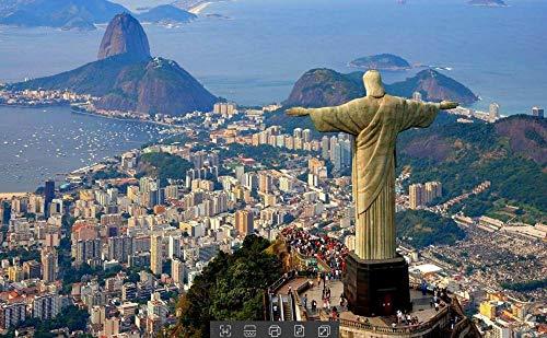 Scultura con Vista su Rio De Janeiro, Brasile Puzzle 1000 Pezzi Bambino Fai da Te Arte Moderna da Parete Decorazioni per La Casa Esercizio Il Cervello