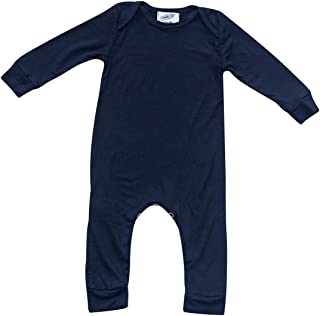 Plain Silky Long Sleeve Baby Romper