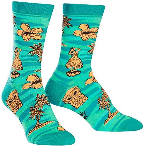 Sock it to me - Damen Socken Tiki Toes - lustige Damen Socken mit Hawaii Girl Palmen Urlaub Gr.37-42 One Size, Größe:Gr. 36-42
