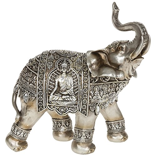 Deko Buddha Gold und Silber Elefant Ornament