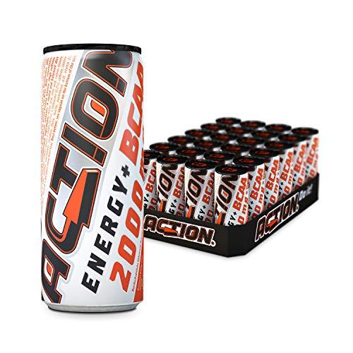 ACTION Energy BCAA Drink EINWEG, 24 x 250 ml, Hochleistungsgetränk mit 2.000 mg BCAA, inkl. Pfand