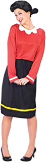 Women's Olive Oyl Halloween Costume (Size:10-14)