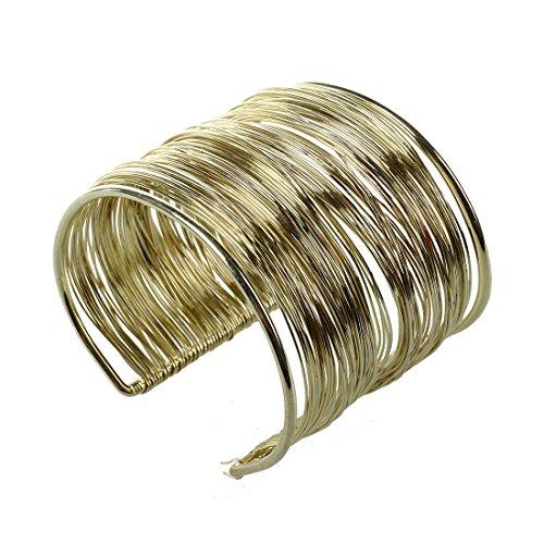 REFURBISHHOUSE Armreif Manschette Armband offen Metall Gold Schmuck Frau
