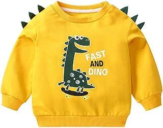 K-Youth Sudadera Niño para 1-6 años Estampado de Dinosaurio Chandal Bebe Niño Invierno Ropa Bebe Niño Abrigo Bebe Niña Rec...