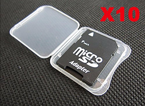 10 pcs SD MMC / SDHC PRO DUO Memory Card Plastic Storage Jewel Case (memory card not included)