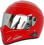 Egrus Casco de Motocicleta con Bluetooth, Casco Probado de Puntos, Integral para Hombres y Mujeres, Casco de Moto de Nieve Urbano, Un XL (Color : B, Size : 57-58cm)