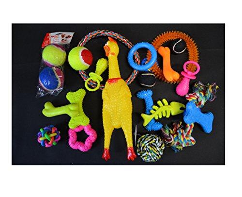 20tlg Hundespielzeug Set Hundebälle Knotenseil - 2