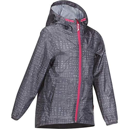 Quechua 8530061 Kid's Raincoat Mh150, 113-121cm 5-6Y (Grey)