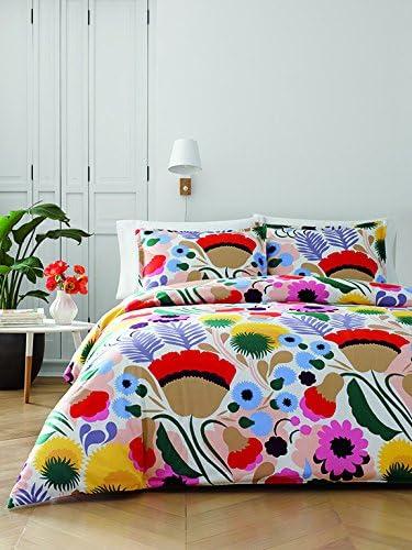 Amazon Com Marimekko 221431 Ojakellukka Comforter Set Full Queen Multi Home Kitchen