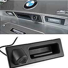 Tailgaters Black Tailgate Backup Reverse Handle with Camera for BMW X1 X3 X4 X5 F30 F31 F34 F07 F10 F11 F25 F26 E84,530I/536Li/335i/328i/335i/320i/330i/X1/520Li (B= 164x48mm)