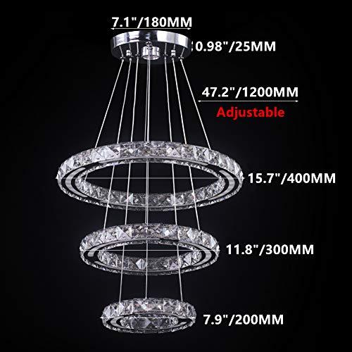 CXGLEAMING Lámparas de araña