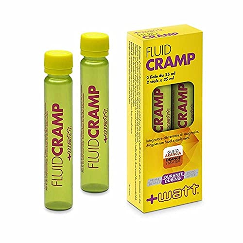 +Watt Fluid Cramp Prodotto Specifico Anti-Crampi Gusto Arancia, 2 x 25ml