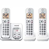 Panasonic KX-TG833SK1 Link2Cell Voice Assist Answering System Talking Caller ID 3 Handset Cordless Phone, Answering Machine and Voicemail, Call Block