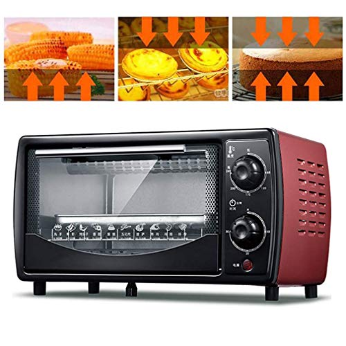 Mini Oven with Rotisserie, with Electric Grill and Hotplates, 30 Minutes Rotation Timing, Upper and Lower Tube Heating, Heat Dissipation Design, 12L