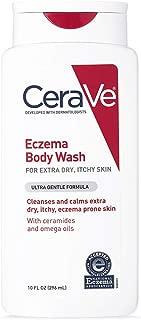 CeraVe Eczema Body Wash | 10 oz | Dry Skin Relief & Eczema Treatment Shower Gel for Itchy Skin | Fragrance Free