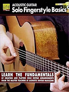 Acoustic Guitar Solo Fingerstyle Basics: Book with Online Audio (Acoustic Guitar Private Lessons)