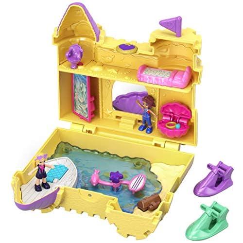 Polly Pocket- Cofanetto Castelli di Sabbia con 2 Bambole, Giocattolo per Bambini 4+ Anni, GCJ87