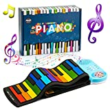 ATOPDREAM Gifts for 2-10 Year Old Boys Girls, 49 Key Roll Up Piano Electronic Music Educational Learning 2021 New Year Birthday Easter Gifts Toys for 2-8 Year Old Boys Girls Kids Gifts Toys Age 3-10