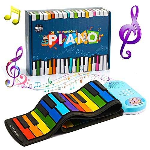 ATOPDREAM Gifts for 2-10 Year Old Boys Girls, 49 Key Roll Up Piano Electronic Music Educational Learning 2021 New Year Christmas Birthday Toys for 2-8 Year Old Boys Girls Kids Gifts Toys Age 3-10