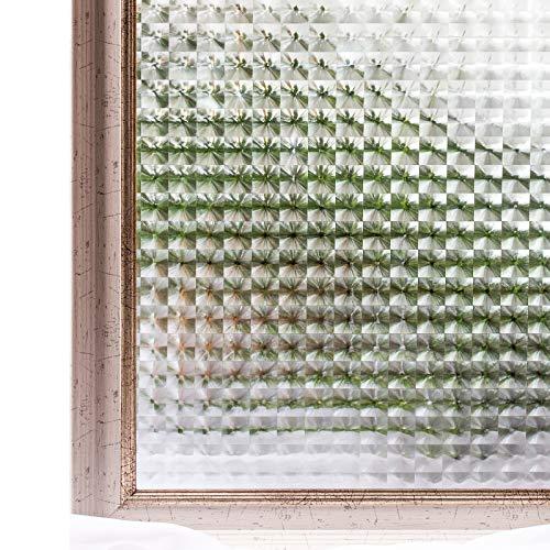 CottonColors 3D窓用フィルム 目隠しシート 何度でも貼り直せる 窓ガラスフィルム 遮熱 紫外線カット のりなし 90x200cm プライバシーガラスフィルム DIY [夢の間021]