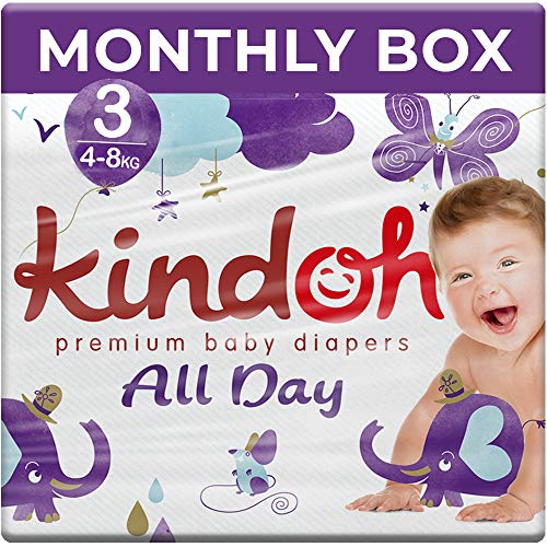 Kindoh All Day Windeln - MONATSBOX- 156 Stück (Größe 3)