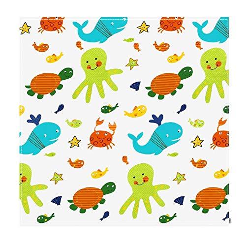 110 x 110 cm Silla para bebé Splash Mat, alfombra impermeable Splat lavable, cubierta protectora de mesa (oceano)