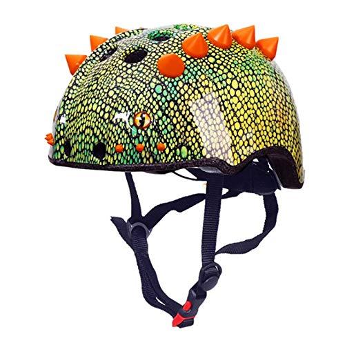 TITST Kinderhelm Niedliche 3D Dinosaurier Helme Jugend Cartoon Skateboard Fahrradhelm Alter 3-13 Jahre Jungen Mädchen, Verstellbarer Helm für BMX Radfahren Fahrrad Roller Inline Skaten