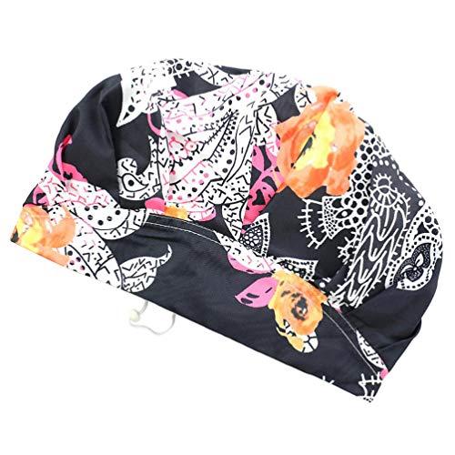SOLUSTRE Femmes Bonnet de Bain Bonnet de Bain Bonnet Nuit Sommeil Bonnet de Couchage Tête Couverture Doux Perte de Cheveux Bonnet Chapeau de Travail p