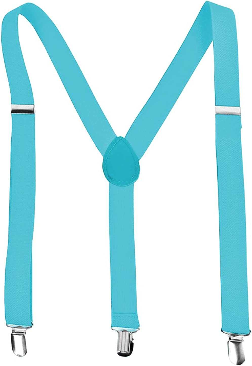 uxcell Unisex Elastic Y Shape Back Adjustable Metal Clamps Suspenders
