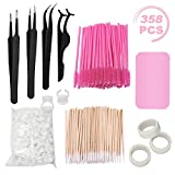 Best Lash Extensions - Eyelash Extension Kit, including Stainless Steel Precision Tweezers Review