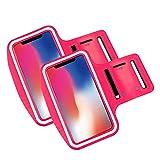Brazalete movil Running Pack 2 uds Compatible con Todos los telefonos moviles de hasta 6.8' Pantalla Funda movil para Correr Brazalete Deportivo movil Porta movil Running Fucsia