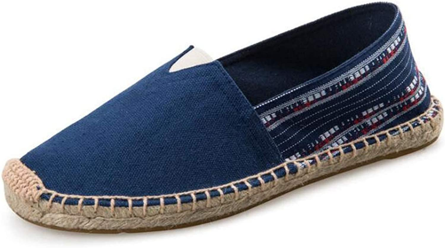 T-JULY Women Espadrille Loafers Flat shoes Female Breathable Canvas Hemp Insole Casual Leisure shoes