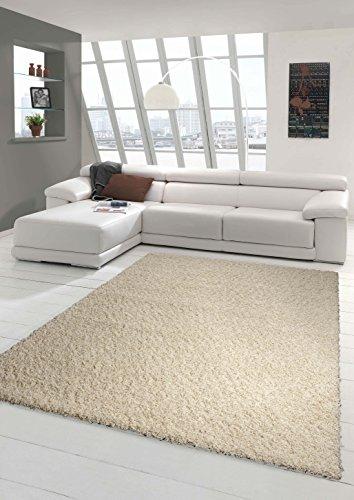 Preisvergleich Produktbild Traum Shaggy Teppich Hochflor Langflor Teppich Wohnzimmer Teppich Gemustert in Uni Design Cream Größe 120x170 cm