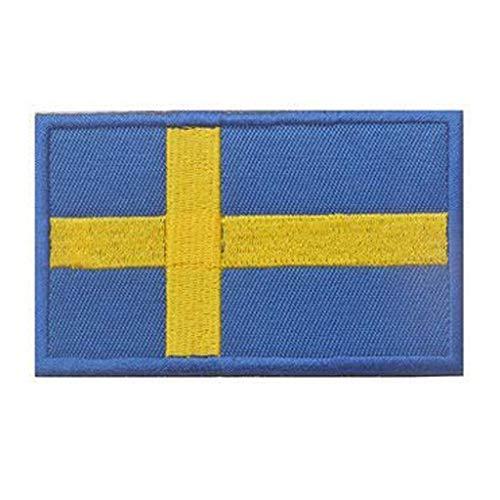 ShowPlus Sweden SE Flag Military Embroidered Tactical Patch Morale Shoulder Applique
