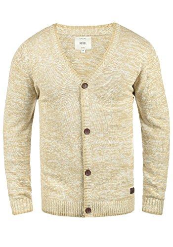 Redefined Rebel Miles Herren Strickjacke Cardigan Feinstrick Mit V-Ausschnitt und Knopfleiste Aus 100% Baumwolle, Größe:M, Farbe:Sand
