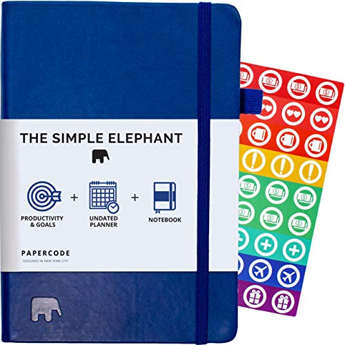 Simple Elephant Planner 2020 - Daily, Weekly, Monthly Agenda - Undated Productivity Journal